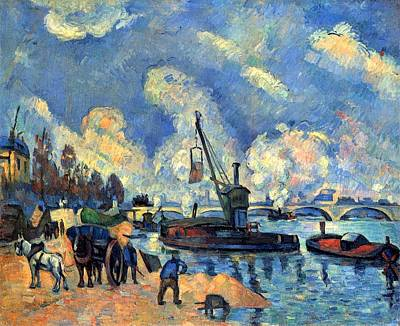 Hamburger Painting - The Seine At Bercy by Paul Cezanne