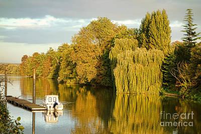 Pleasure Photograph - The Seine At Bonnieres by Olivier Le Queinec