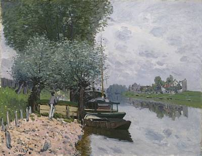 The Seine At Bougival, 1872 Art Print