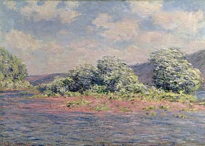 The Seine At Port-villez Art Print by Claude Monet