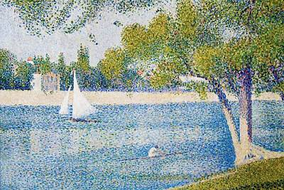 Jatte Painting - The Seine At The Grand Jatte by Georges Seurat
