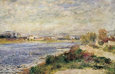 Riverbank Painting - The Seine In Argenteuil by Pierre-Auguste Renoir