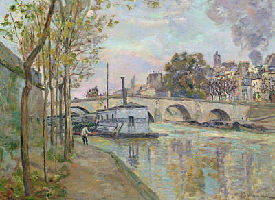 The Seine In Paris  Print by Jean Baptiste Armand Guillaumin
