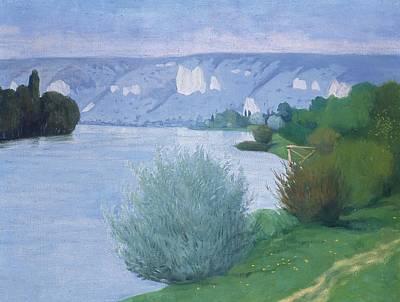 The Seine Near Les Andelys Print by Felix Edouard Vallotton