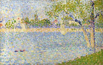 Grande Painting - The Seine Seen From La Grande Jatte by Georges Seurat