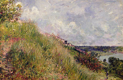 Bank Clouds Hills Painting - The Seine, View Of The Slopes Of By, 1881 by Alfred Sisley