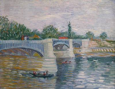 Jatte Painting - The Seine With The Pont De La Grande Jatte by Vincent van Gogh