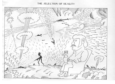 The Selection Of Reality Art Print by Saul Steinberg