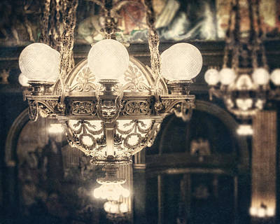 The Senate Chandeliers  Print by Lisa Russo