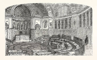 The Senate House Of The Luxembourg Palace Art Print by Luxembourg School