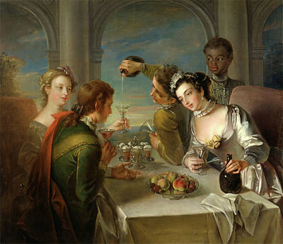 The Sense Of Taste, Philippe Mercier, 1689 Or 1691-1760 Art Print by Litz Collection