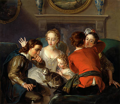 Oil Paining Painting - The Sense Of Touch, Philippe Mercier, 1689 Or 1691-1760 by Litz Collection