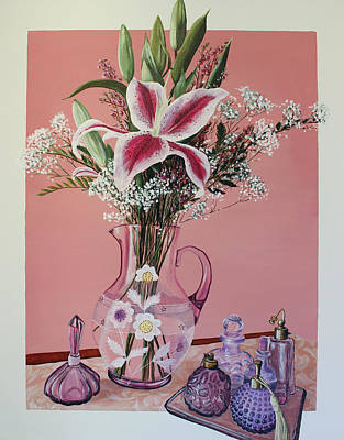Pitcher Painting - The Scent Of Flowers by Patricia Pasbrig