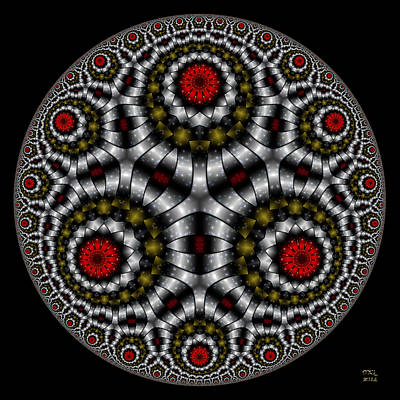 Digital Art - The Sentinel - Hyperbolic Disk by Manny Lorenzo