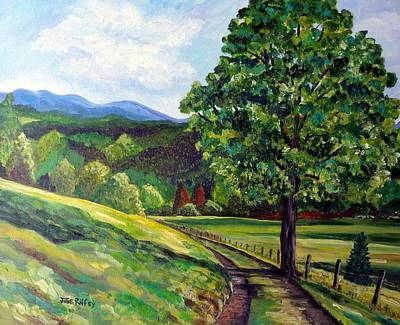 Painting - The Sentinel - Summer Landscape by Julie Brugh Riffey