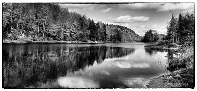 Monotone Photograph - The Serenity Of Bald Mountain Pond by David Patterson