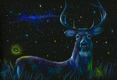 The Serenity Of The Night  Art Print