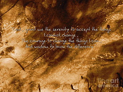 The Serenity Prayer 1 Art Print by Andrea Anderegg