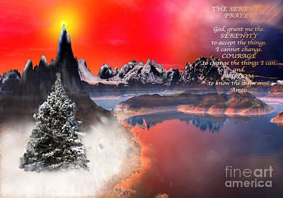 Serenity Mixed Media - The Serenity Prayer Christmas Version by Heinz G Mielke