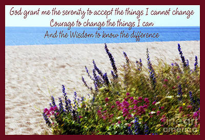 Photograph - The Serenity Prayer 4 by Wendy Wilton