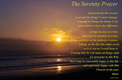 The Serenity Prayer Art Print by Tikvah's Hope