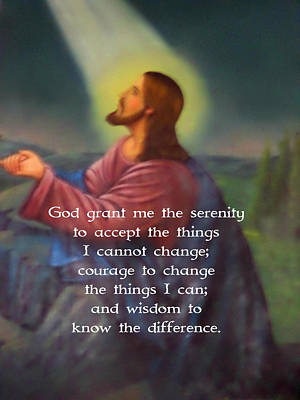 I Know Digital Art - The Serenity Prayer by Valentino Wolf