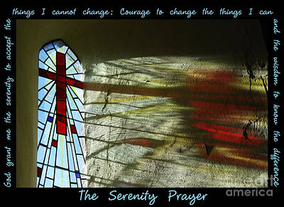 Digital Art - The Serenity Prayer 1 by Wendy Wilton