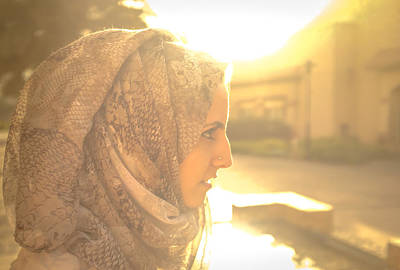 Beautiful Hijabs Photograph - The Serian Face by Ahmed Rashed