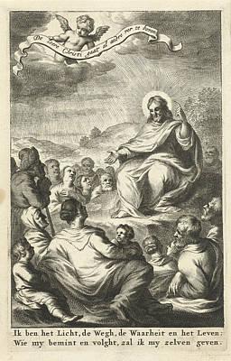 Sermon Drawing - The Sermon, Cornelis Van Dalen I, Jacob Lescailje by Cornelis Van Dalen (i) And Jacob Lescailje