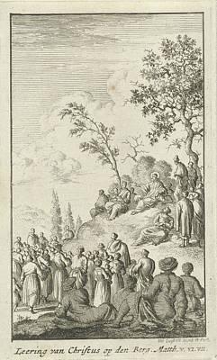 Sermon Drawing - The Sermon, Jan Luyken by Quint Lox