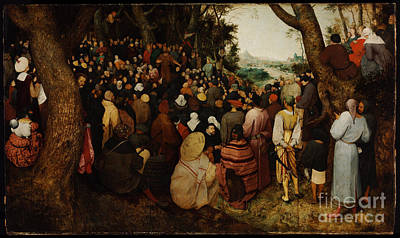 Sermon Painting - The Sermon Of Saint John The Baptist by Celestial Images