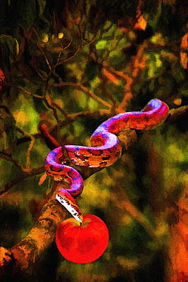 Painting - The Serpent by John Haldane