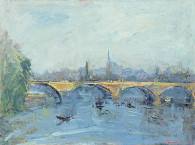 The Serpentine Bridge, London, 1996 Oil On Canvas Art Print