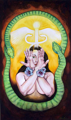 Painting - The Serpent's Gift by Rebecca Barham