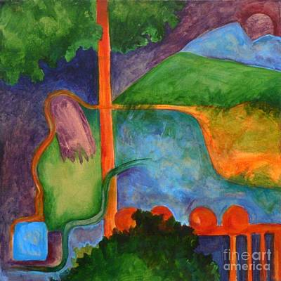 The Setting- Caprian Beauty Series 2 Art Print by Elizabeth Fontaine-Barr
