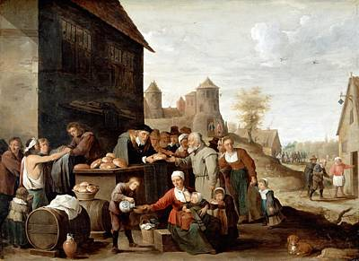 Works Of Mercy Painting - The Seven Corporal Works Of Mercy by David Teniers the Younger