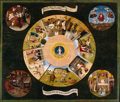 Hieronymus Bosch Painting - The Seven Deadly Sins by Hieronymus Bosch