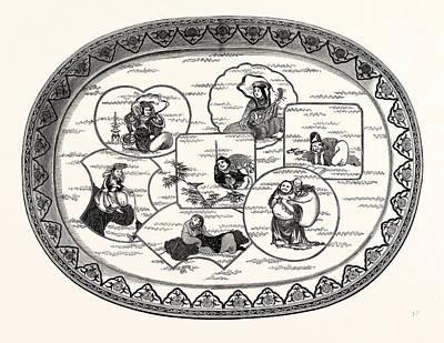 Deity Drawing - The Seven Deities by English School