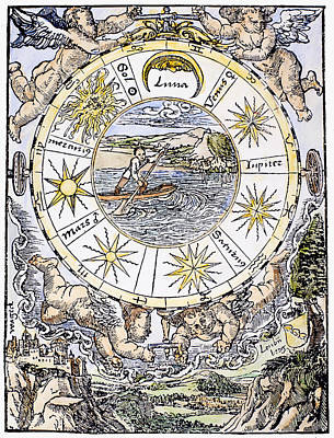 The Seven Planets, 1536 Print by Granger