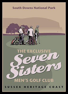 Digital Art - The Seven Sisters Men Golf Club by Nop Briex