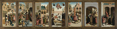 Mercy Drawing - The Seven Works Of Mercy, Master Of Alkmaar by Quint Lox