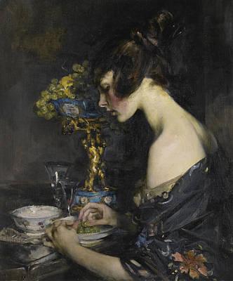 The Sevre Vase Art Print by Sir James Jebusa Shannon