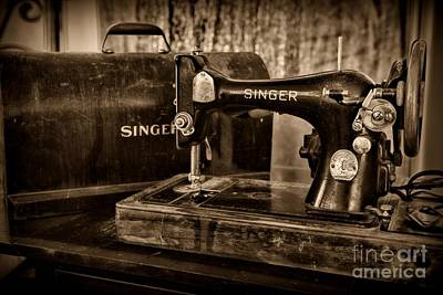 Photograph - The Sewing Machine In Black And White by Paul Ward