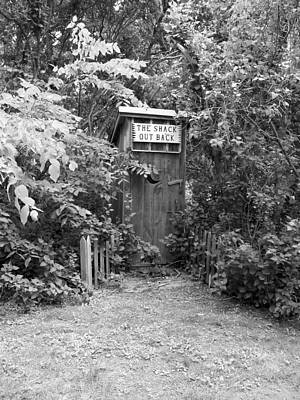 The Shack Out Back In Black And White Art Print