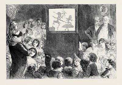 H Drew Drawing - The Shadow Dance by Browne, Hablot Knight (phiz) (1815-92), English