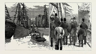 Dock Drawing - The Shah Of Persia In England And Scotland by Litz Collection