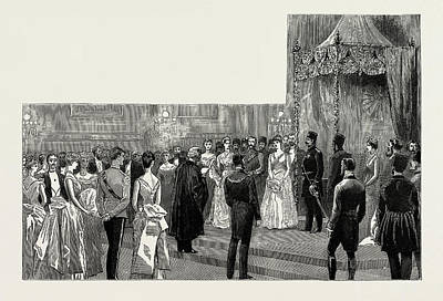 The Shah Of Persia In England, Uk, 1889 The Ball Art Print by Litz Collection