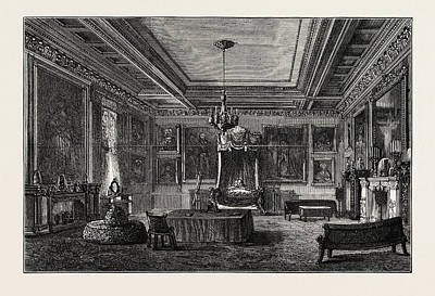 Buckingham Palace Drawing - The Shahs Bedroom In Buckingham Palace, London by English School