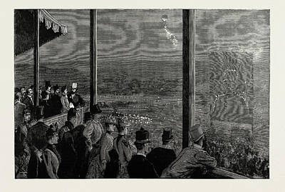 Fireworks Drawing - The Shahs Visit To The Crystal Palace The Fireworks by Litz Collection