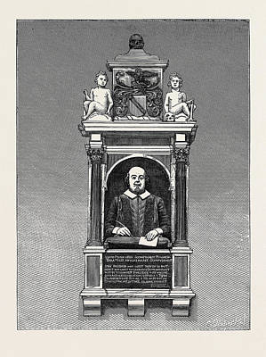 Stratford Drawing - The Shakespeare Anniversary Celebration Monument by English School